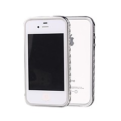 SHENGO™ Luxury Crystal Rhinestone With TPU Insert Protection Silver Metal Bumper for iPhone 4/4S(Assorted Colors)
