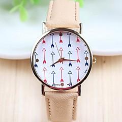 style décontracté des femmes en or rose cadran PU bande de montre-bracelet à quartz analogique (couleurs assorties)