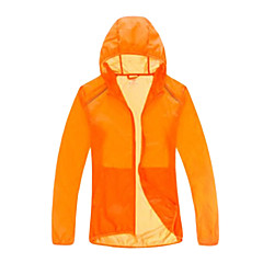 Outdoor 100% Nylon Unisex Transparent and Thin Windbreaker