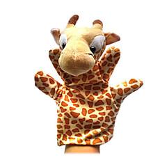 2PCS Christmas Giraffe Parent-child Hand&Finger Puppets Kids Talk Prop