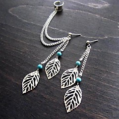 Earring Leaf Stud Earrings / Clip Earrings Jewelry Casual Silver