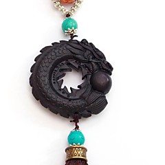 Duo Ji Mi ® Big Curly Dragon Ebony Car Pendant Hanging Decorations