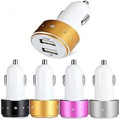 es-06 carregador de carro com hub USB de 2 portas para o iPhone 6 iphone 6 plus e outros celulares (5V 1A / 2.1a)