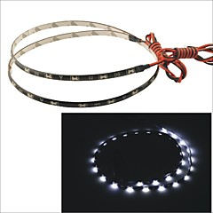 Carking™ 335-30SMD-60CM Waterproof Flexible Car Decorative Side Shine Strip Light-White(12V)