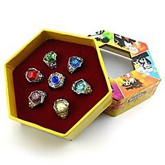Ékszerek Ihlette Újjászületve! Szerepjáték Anime Szerepjáték Kiegészítők gyűrű Piros / Sárga / Kék / Bíbor / Zöld / EzüstÖtvözet /