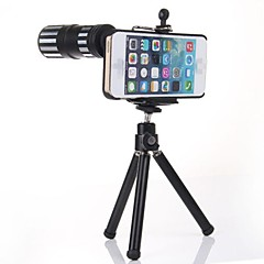full metal 12x zoom telelinse m / stativ + tilbake tilfelle for iPhone 6