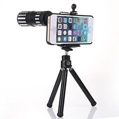 pieno 12x metallo zoom teleobiettivo w / treppiede + posteriore Case for iPhone 6