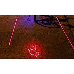 UNGROL Peace Dove Pattern 5 LED 4 Flash Mode White+Red Bike Projection Laser Taillight