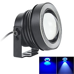 67MM 10W LED 7000K Cool White Fog Light and Blue Angel Eye Rings DRL Daytime Running Light DIY Bulb (DC 12V-24V)
