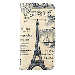 Retro Tower Pattern PU Leather Full Body Case for iPhone 5/5S