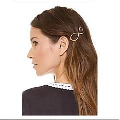 shixin® vintage nummer 8 legering hårspænder for kvinder (golden) (1 stk)