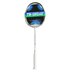 SIRDAR Bright White Carbon Fiber Badminton Racket