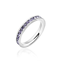 Fashion  Glamorous 316L Stainless Steel .1CT Channel-Set Eternity Ring