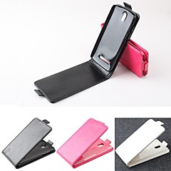 Hot Sale 100% PU Leather Flip Leather Up and Down Case for HTC Desire 500(Assorted Colors)