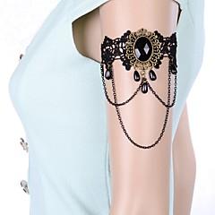 European Vintage Gothic Style Black Lace Gem Armlet