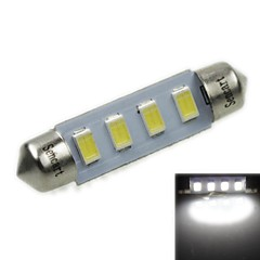 39MM(SV8.5-8) 2W 4x5730SMD 120-1600LM 6000-6500K White Light Led Bulb for Car License plate Lamp(AC12-16V)