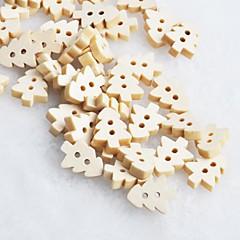 kerstboom scrapbook scraft naaien diy houten knopen (10 stuks)