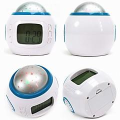 Fashion Star Dazzle Colour Projection Luminous LED Alarm Clock