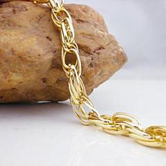 18k de ouro banhado a pulseira cadeia 21 centímetros