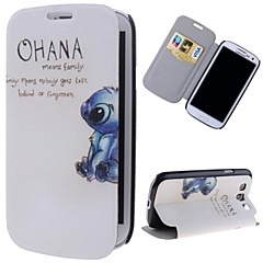 Rabbits Pattern PU Leather Full Body Case with Stand and Card Slot for Samsung Galaxy S3 I9300