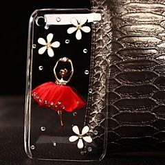 jupe rouge bricolage avec étui strass motif de plastique pour iPhone 3G / 3GS