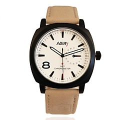 NARY Men's Leather Starps   Quartz  Waterproof Sports  Watch  (Assorted Colors) Cool Watch Unique Watch