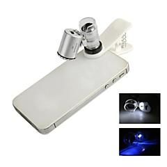 universal 60x mikroskop objektiv inställd för iphone / ipad / samsung / htc + fler mobiltelefon / tablet pc