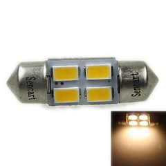 31MM(SV8.5-8) 2W 4X5730SMD120-1600LM 3000-3500K Warm White Light LED Bulb for Car Reading Lamp(AC12-16V)