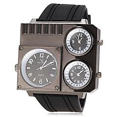 שעון יד קוורץ להקת סיליקון האזורים שלושה הזמן של גברים (צבעים שונים)