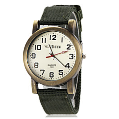 Men's Military Green Fabric Band Quartz Wrist Watch (Assorted Colors)