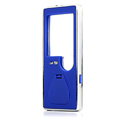 ZW-7007 portátil 3 branco levou um led azul 6x ampliador de luz com uma caneta esferográfica (3 * LR1130)