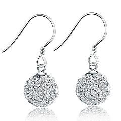 Γυναικεία Κρεμαστά Σκουλαρίκια Κρυστάλλινο μινιμαλιστικό στυλ Κομψή Νυφικό Ασήμι Στερλίνας Κρύσταλλο Κοσμήματα Κοσμήματα Για Γάμου Πάρτι