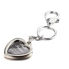 forme de coeur selfie album photo alliage de zinc porte-clés (10 premiers clients avec boîte ajoutées)