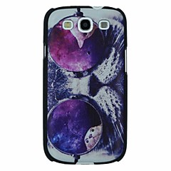 Cat with Glasses Pattern PC Hard Back Cover Case for Samsung S3 I9300