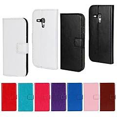 estilo carteira padrão de cor sólida pu capa de corpo inteiro com suporte para Samsung Galaxy S3 mini (cores sortidas)