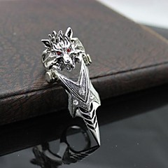 Z&X®  Punk Vintage Style Super Cool Alloy Wolf Men's Knuckle Ring