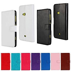 Solid Color PU Leather Full Body Case with Stand and Card Slot for Nokia Lumia 625 (Assorted Color)