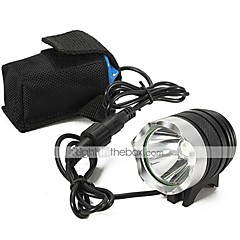 LT-060 3-Mode CREE XM-L L2 LED Bicycle Light  Headlamp Torch (2000LM,4X18650,Black)