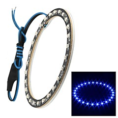 Merdia 1W 100LM 27x3528SMD LED Blue Light Car and Motorcycle Angel Eyes  (DC  12V/1Piece,100mm Outside Diameter)