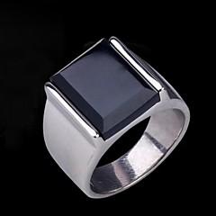 Men's Europe Vintage Darkstone Titanium Steel Ring
