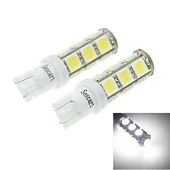 T10(149 168 W5W) 7W 13x5054SMD 480-560LM 6500-7500K White Light for Car Light Parking Lamp(DC12-16V)