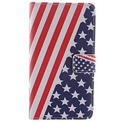 For Samsung Galaxy Note Pung Kortholder Med stativ Flip Mønster Etui Heldækkende Etui Flag Kunstlæder for Samsung Note 3