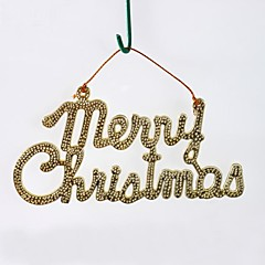 Golden Merry Christmas Hanging Board(6pcs)