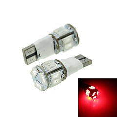 T10 LED 2-Mode Red 5W 11X5630SMD 550LM  for Car Brake Light (DC12-16V)