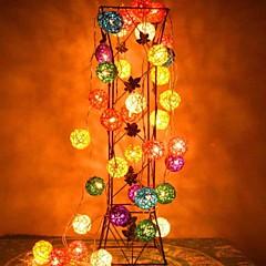 jiawen® 4m 20leds RGB οδήγησε μπαστούνι μπάλα εγχόρδων φως Χριστούγεννα φως κορδόνι για διακόσμηση (AC 110-220V)