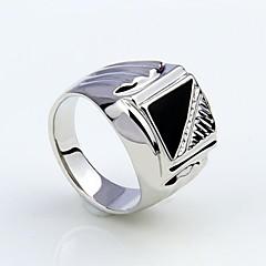 Męskie Duże pierścionki biżuteria kostiumowa Imitacja diamentu Stop Biżuteria Na Impreza Codzienny Casual Prezenty bożonarodzeniowe
