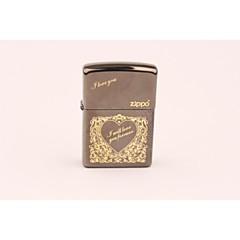 klassieke gouden liefde-hart zippo butaanaansteker
