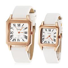 romanos número do casal quadrado marcar pu faixa de relógio de quartzo moda (cores sortidas)