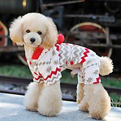 Blød Varm Fleece Snowy dag Style Hoodie Buksedragt til kæledyr Hunde (assorterede størrelser)