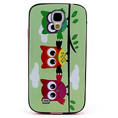 2-in-1 Three Owls Pattern TPU Back Cover with PC Bumper Shockproof Soft Case for Samsung S4 I9500